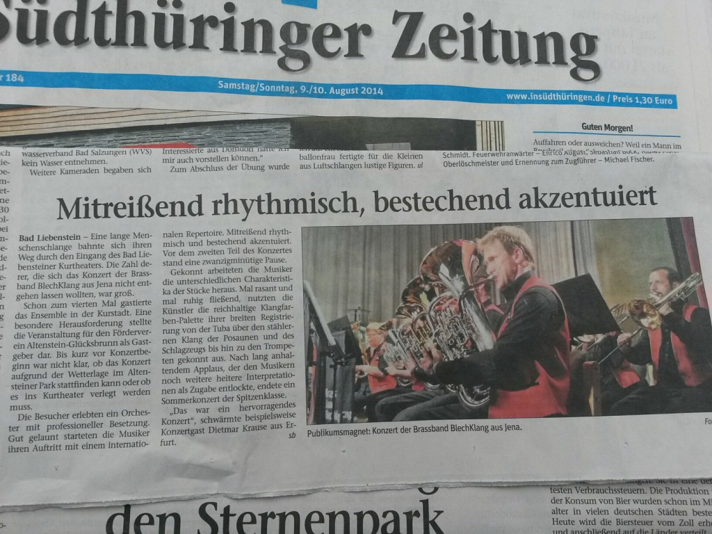 Konzert Bad Liebenstein - Südthüringer Zeitung