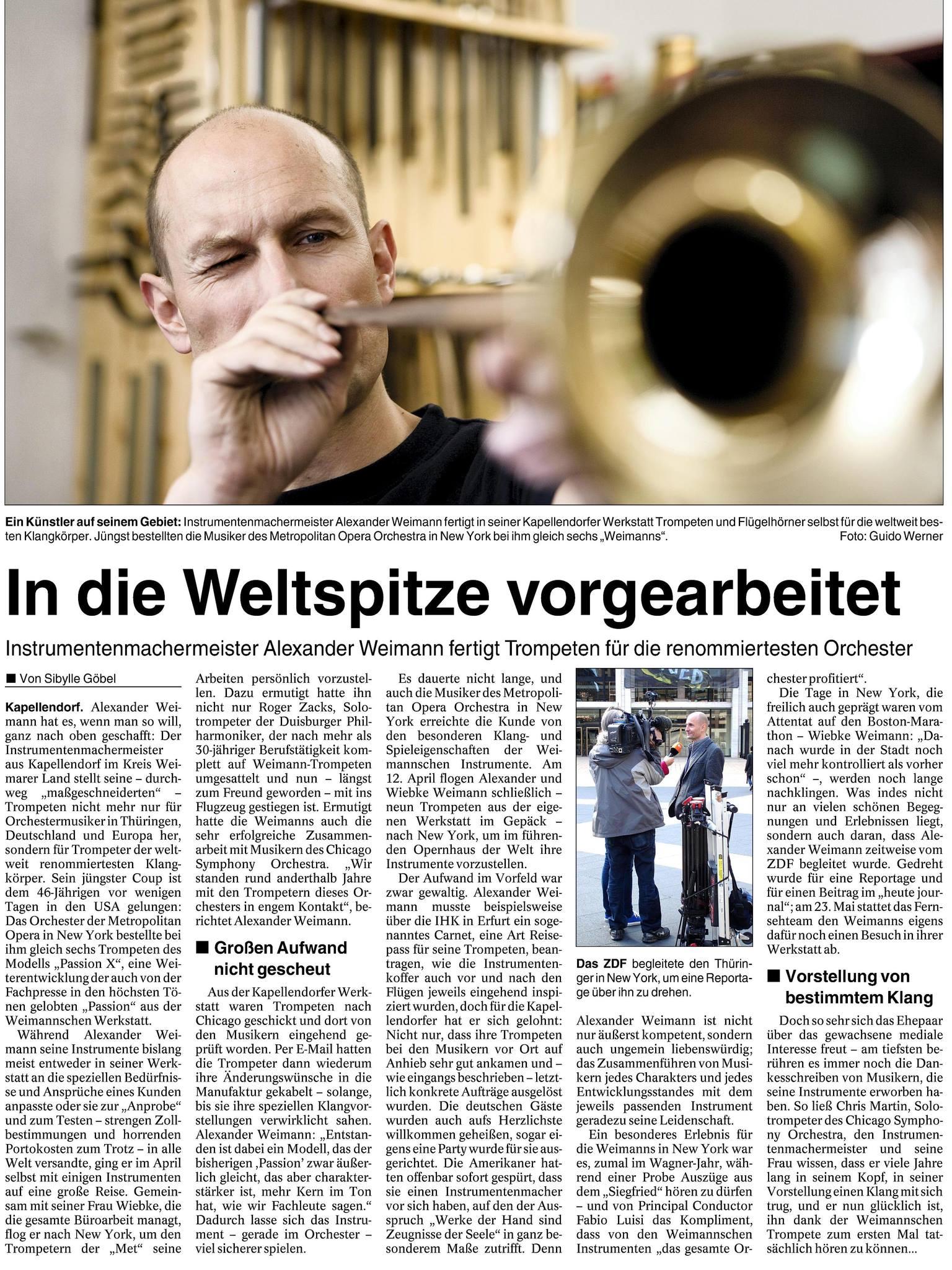 Instrumentenbaumeister Weimann