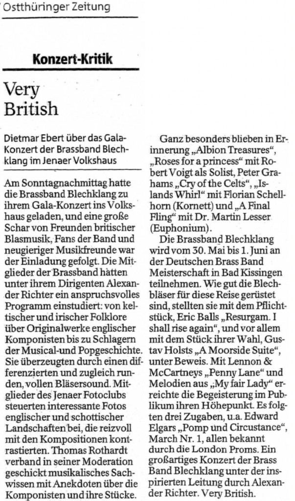 Kritik Galakonzert Very British