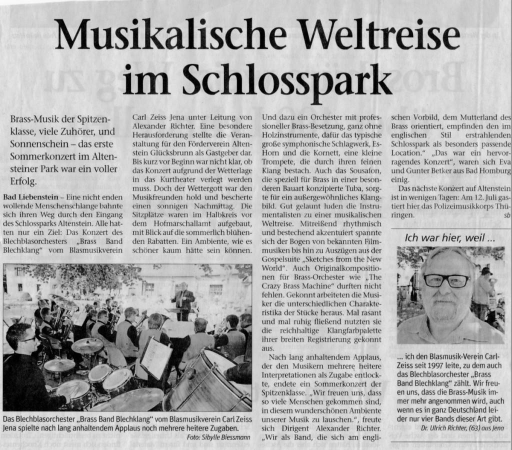 Freies Wort - Rezension Altenstein 2015