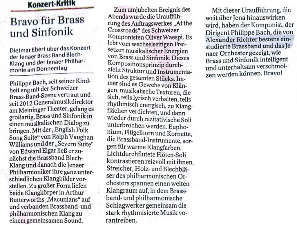 Rezension Ebert Brass und Sinfonik