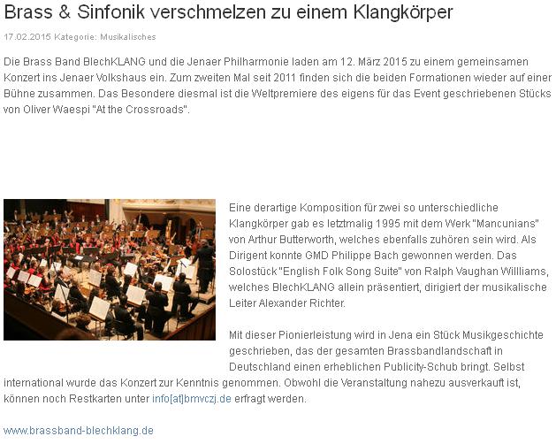 Blasmusik.de Brass und Sinfonik Blechklang