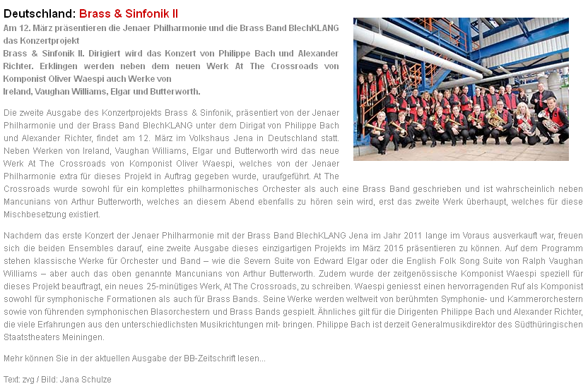 BrassBand Blechklang Brass und Sinfonik
