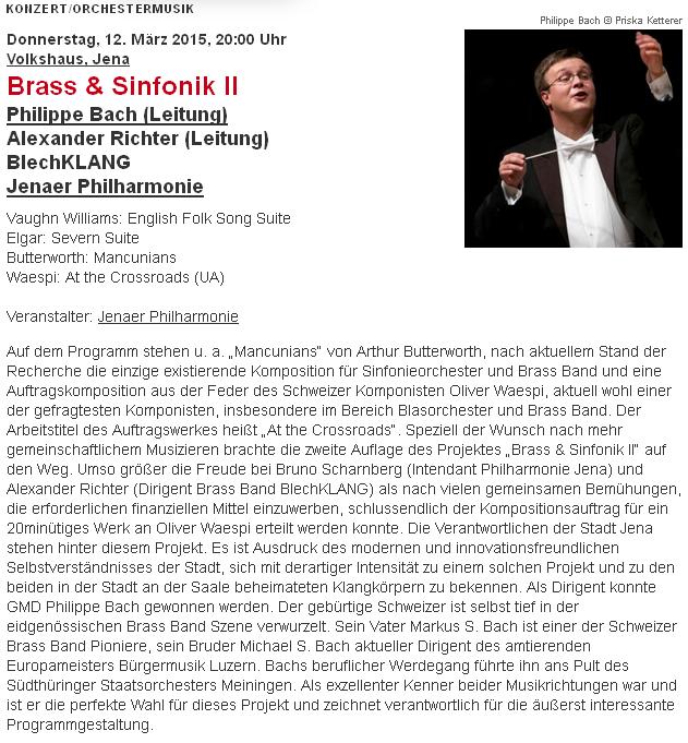 Concerti Brass und Sinfonik blechklang