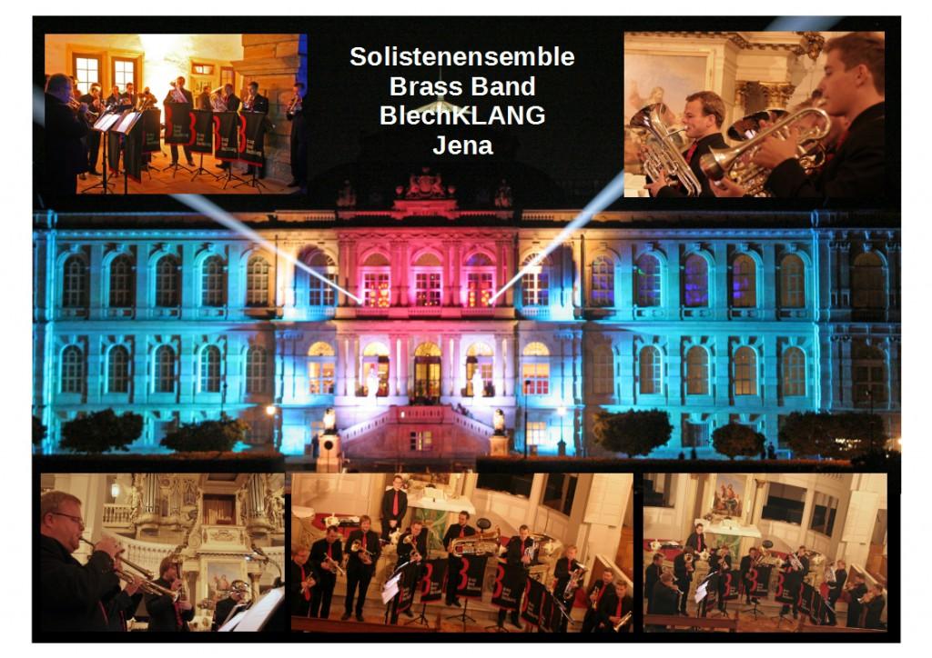 Das Solistenensemble der Brass Band BlechKLANG bei der Gothaer Nacht der Museen
