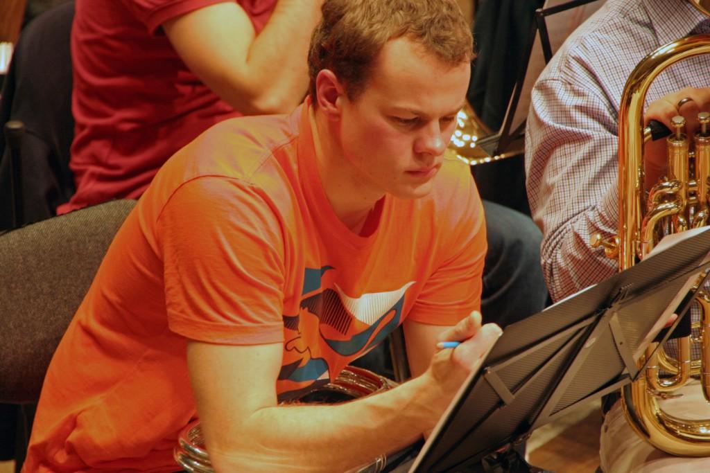 Hendrik Bernhard bei der Probe für Brass & Sinfonik II