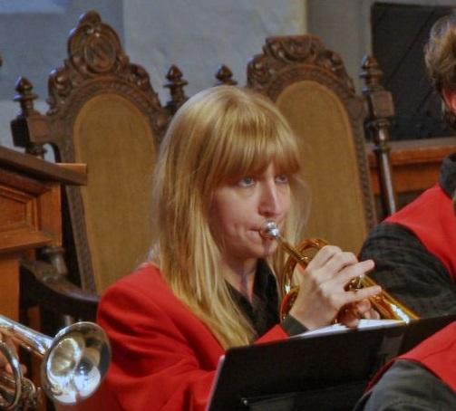 Ulrike bei der Bläserweihnacht 2014
