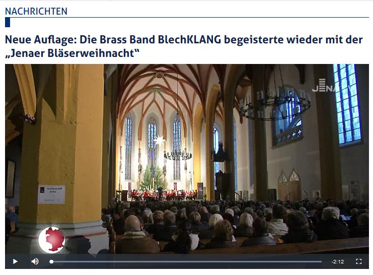 Artikel Jena TV Brass Band BlechKLANG Bläserweihnacht 2017
