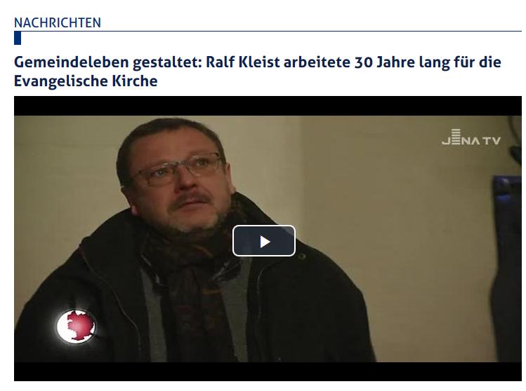Artikel JenaTV Ralf Kleist Bläserweihnacht 2017 Brass Band BlechKLANG