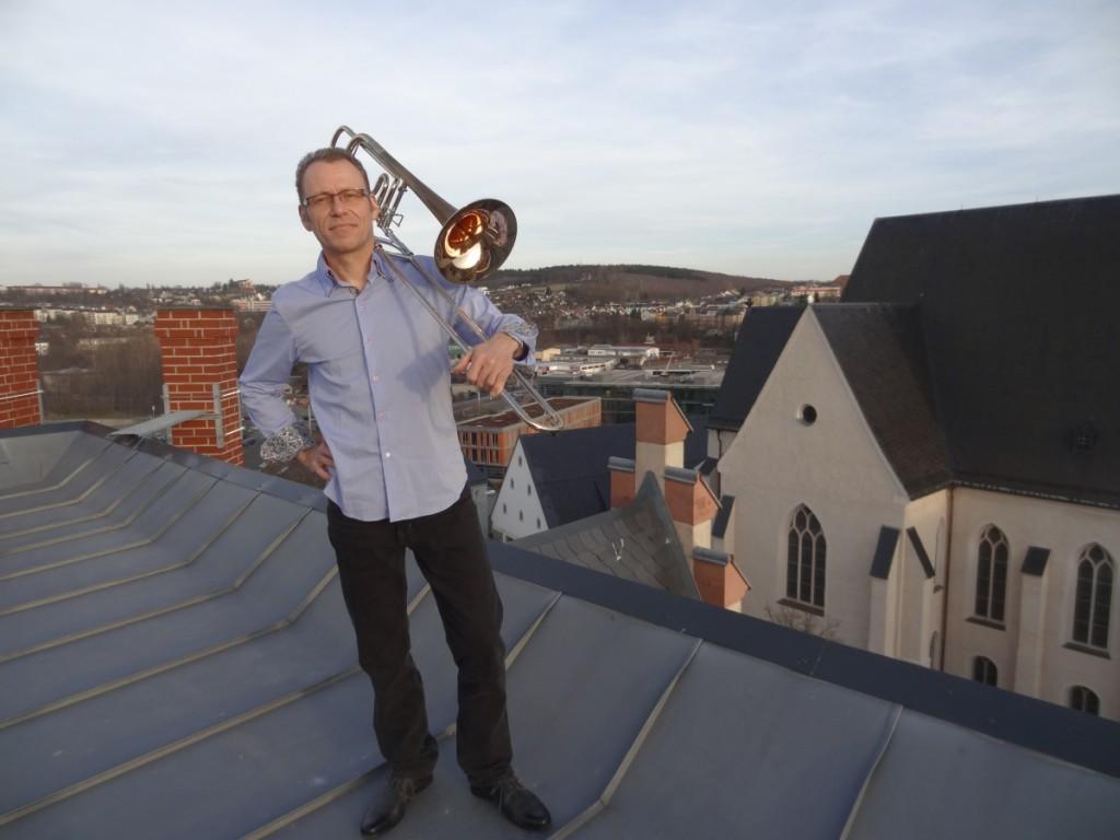 Erik Feitisch unterstützt Brass Band Blechklang bei KLANGspuren