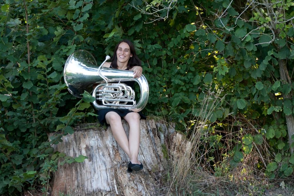 Manuela Poleschner unterstützt Brass Band BlechKLANG bei KLANGspuren