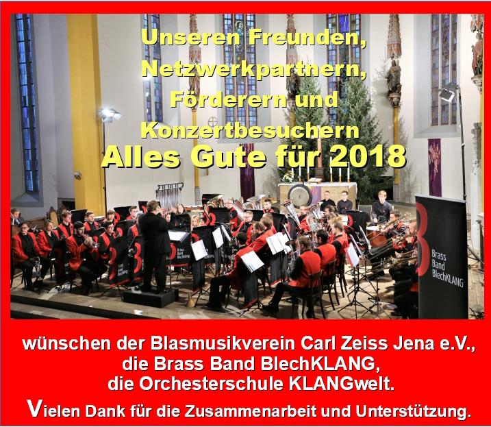 Brass Band BlechKLANG Neujahrsgruß 2018