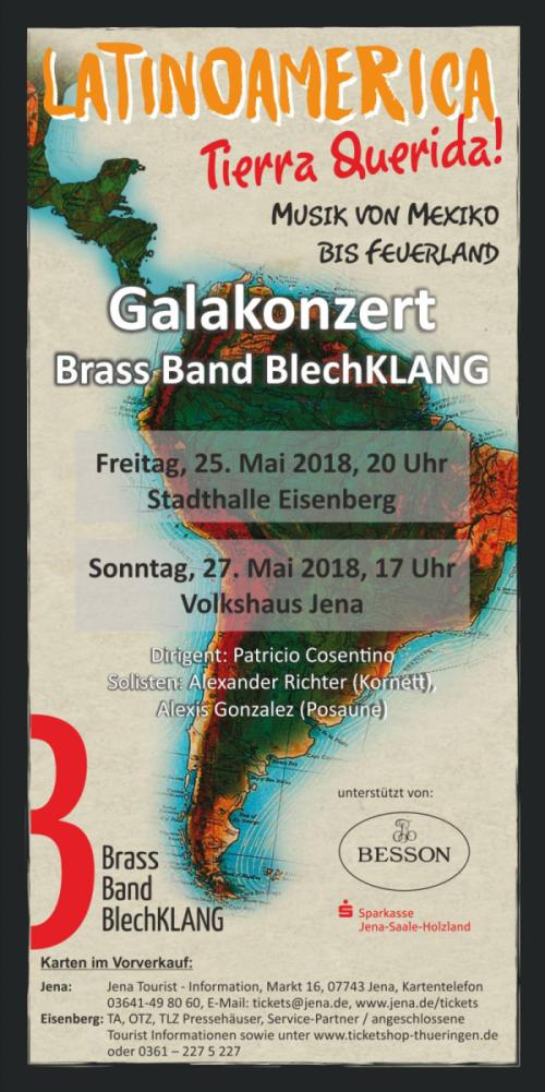 Galakonzert 2018 der Brass Band BlechKLANG in Jena und Eisenberg