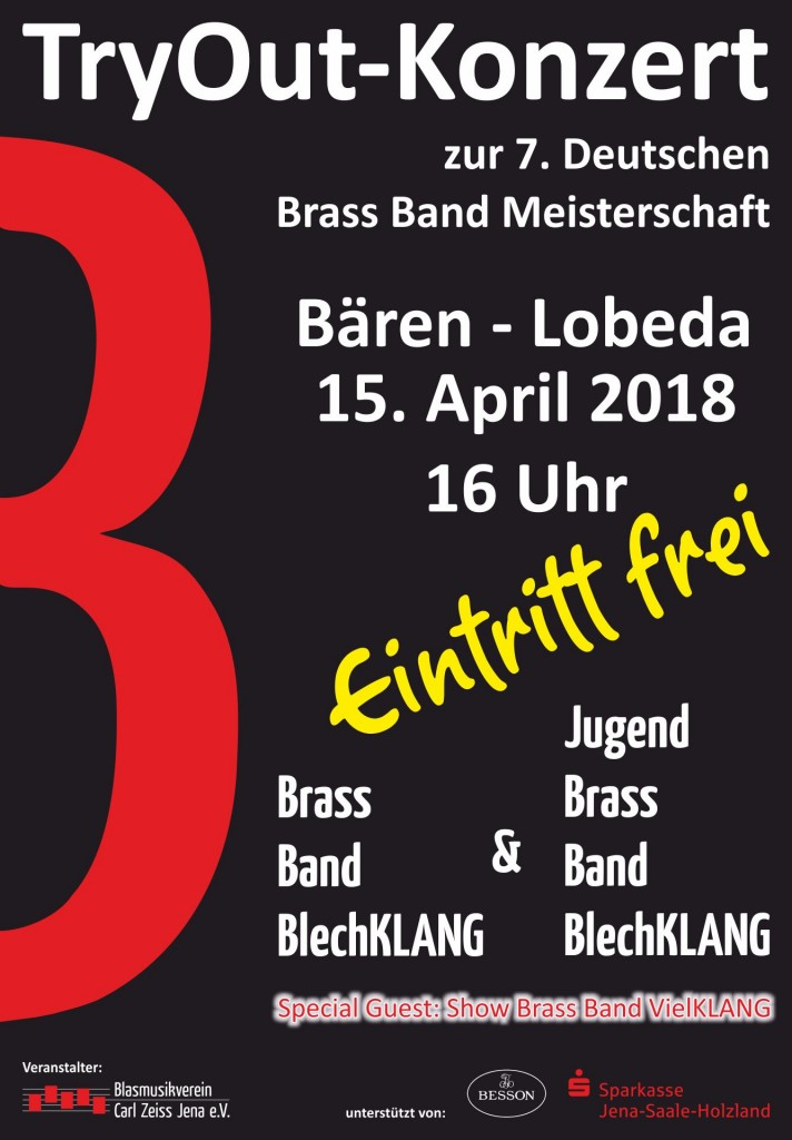 Try Out Konzert Brass Band BlechKLANG Deutsche Brass Band Meisterschaft