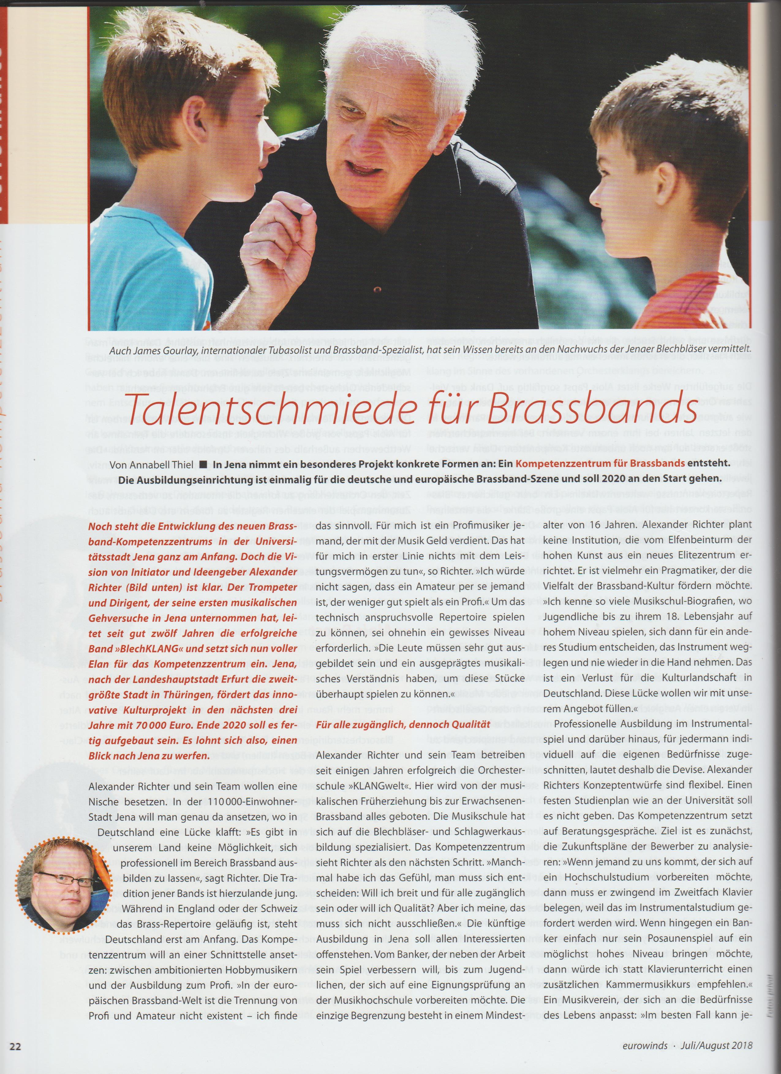 Eurowinds über Kompetenzzentrum für Brass in Jena (2)