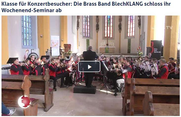 Beitrag von JenaTV über das Abschlusskonzert der Brass Band BlechKLANG zum 3. Jenaer Blechbläser-Seminar