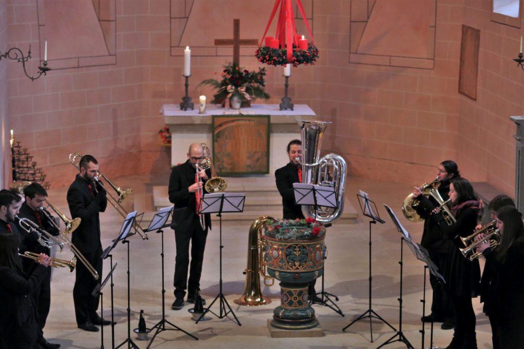 Brass Band BlechKLANG Bläserweihnacht 2018 Blech trifft Orgel