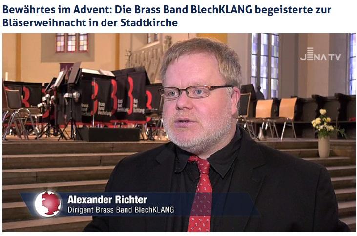 Beitrag von Jena TV über das Große Weihnachtskonzert der Brass Band BlechKLANG