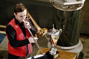 Christoph Hillebrand beim Großen Weihnachtskonzert der Brass Band BlechKLANG