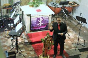 Patricio Cosentino bei Blech trifft Orgel