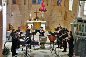 Solistenensemble der Brass Band BlechKLANG bei Blech trifft Orgel