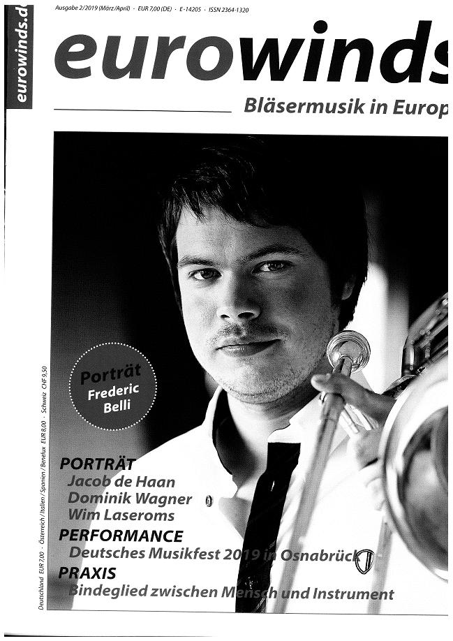 Artikel aus der eurowinds März-April 2019 unser Konzert mit der Jenaer Philharmonie und die Vorbereitungen der Jugend Brass Band BlechKLANG auf die Europäische Brass Band Meisterschaft 2019 (1)