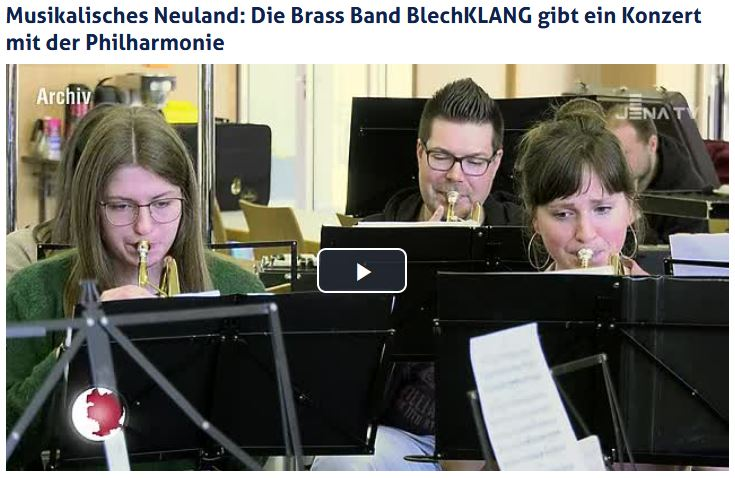 Beitrag vom JenaTV über das gemeinsame Konzert BlechKLANGPhilharmonie mit der Jenaer Philharmonie