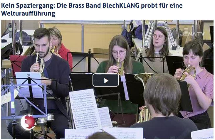 Beitrag von Jena TV über unsere gemeinsame Probe mit Philippe Bach für das Konzert BlechKLANGPhilharmonie mit der Jenaer Philharmonie
