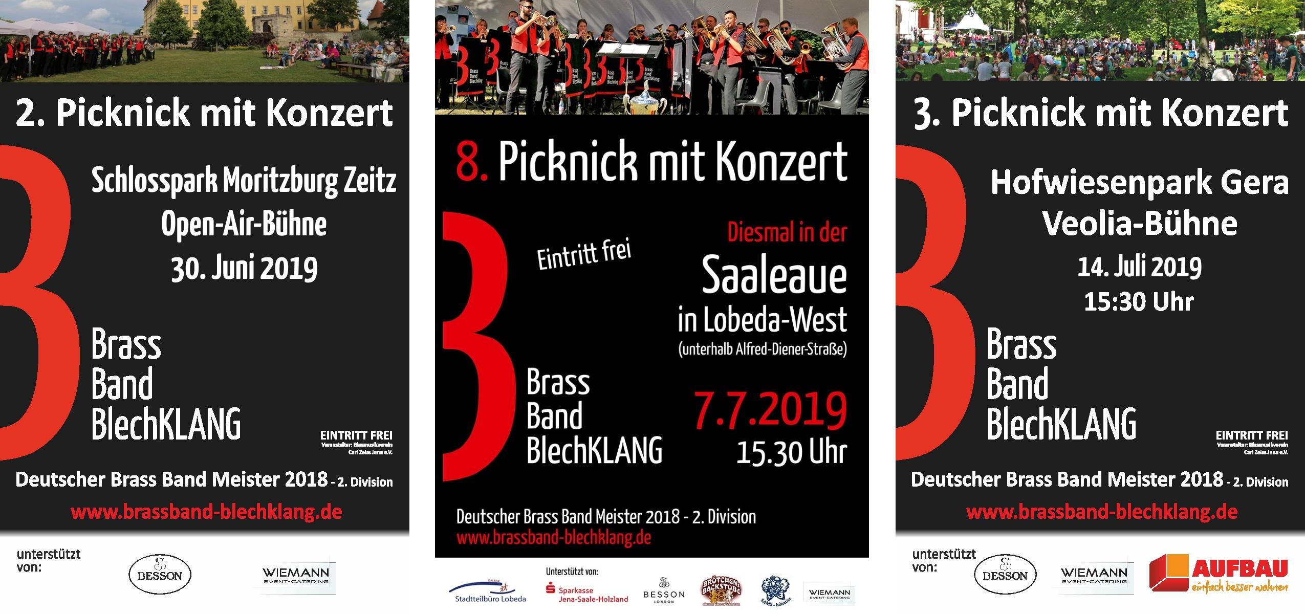 Picknickkonzerte der Brass Band BlechKLANG 2019