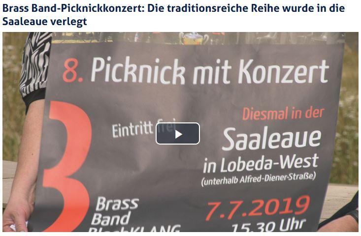 Beitrag von JenaTV über das Picknickkonzert der Brass Band BlechKLANG