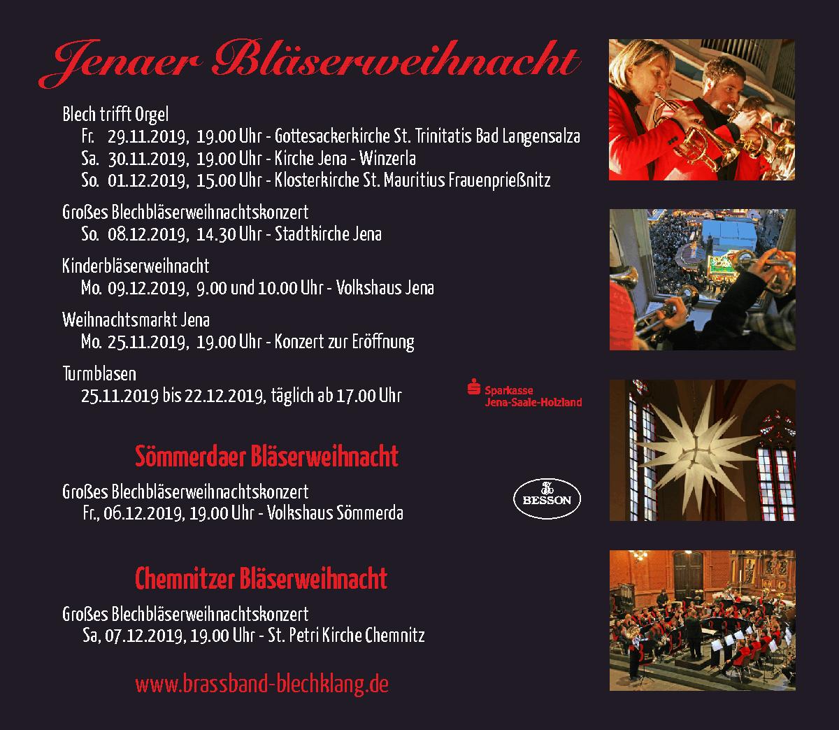 Weihnachtskonzerte Brass Band BlechKLANG 2019