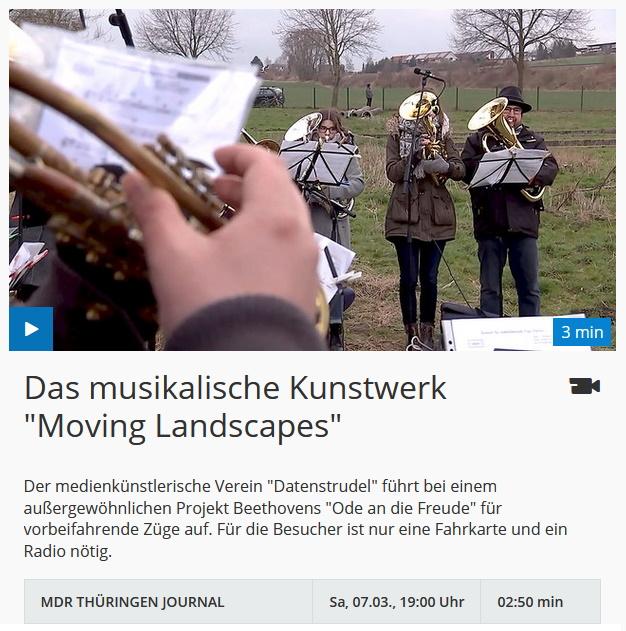 Video MDR Moving Landscapes Konzerte für vorbeifahrende Züge