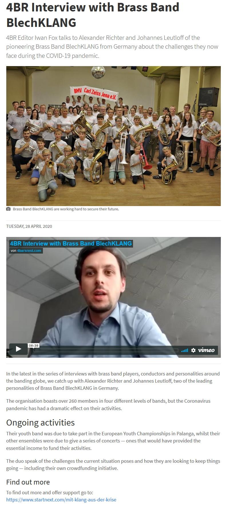 Artikel 4barsrest Interview Alexander Richter Corona Krise