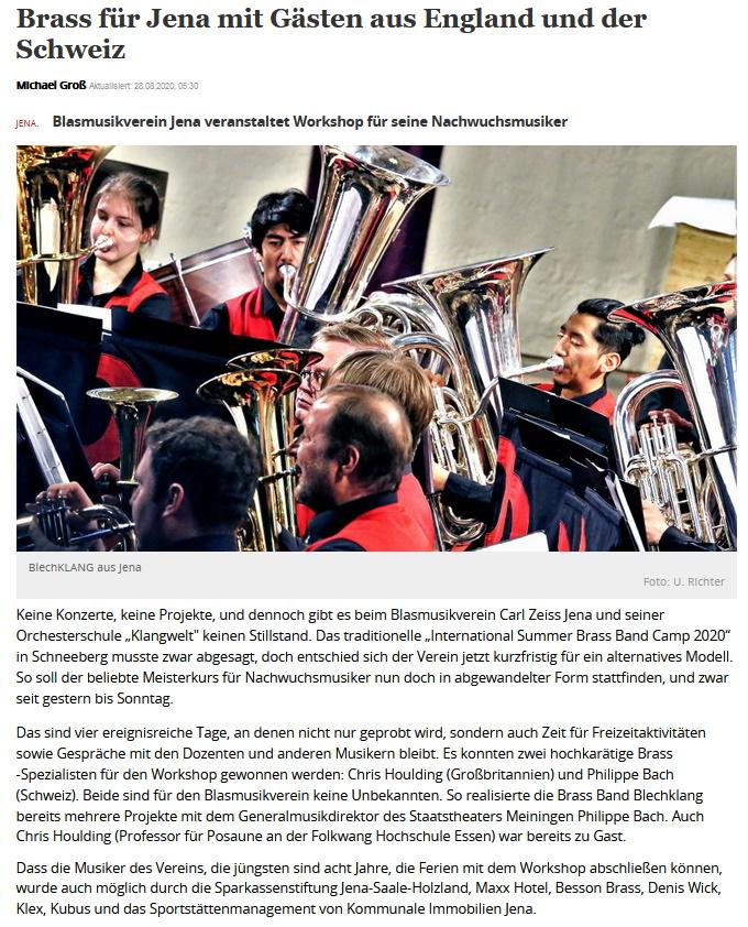 Artikel OTZ Sommer Brass Band Camp