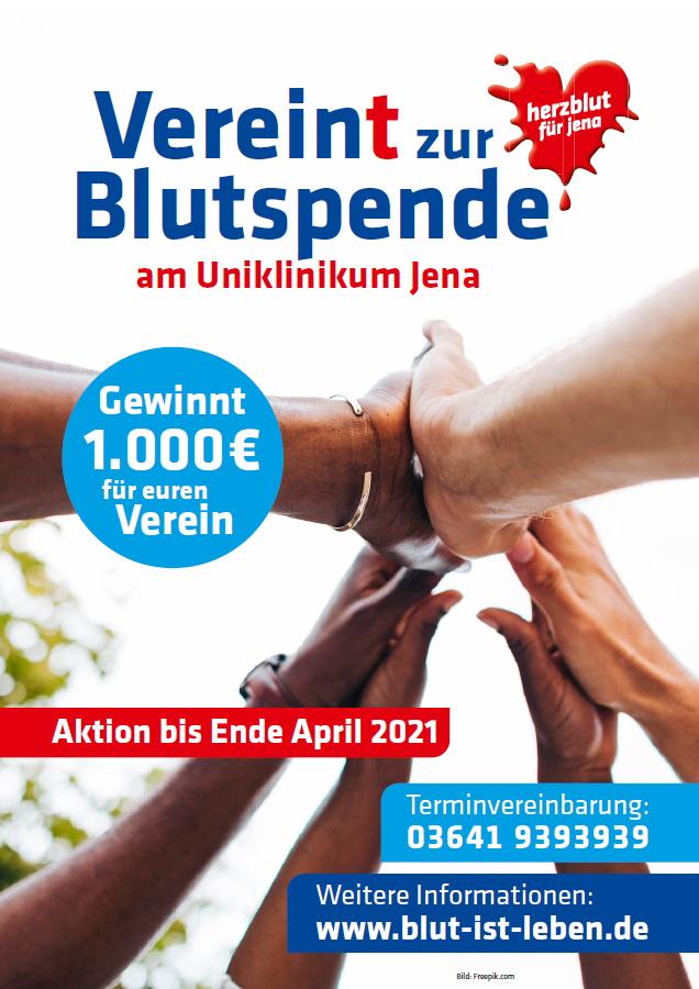 Plakat Vereint zur Blutspende