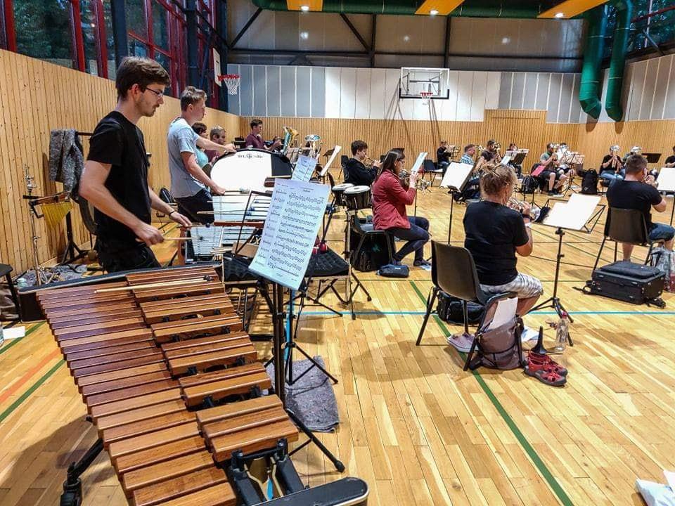 Jürgen Strobel beim Sommer Brass Band Camp 2020 Brass Band BlechKLANG